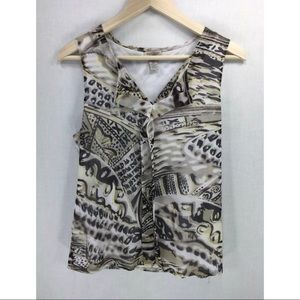 Easywear by Chico's Women's Size 1 V-Neck Top